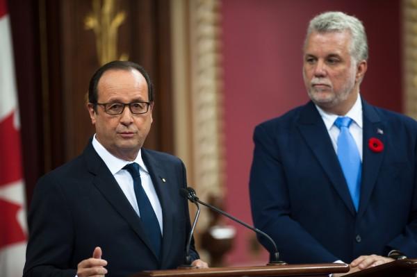Le Premier ministre du Québec Philippe Couillard à Paris
