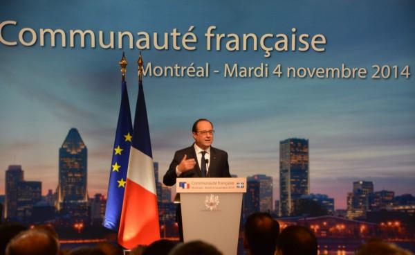François Hollande à Montréal en septembre