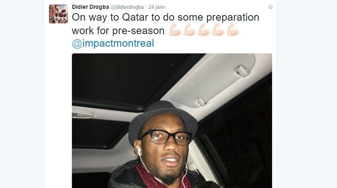 Didier Drogba reste à Montréal