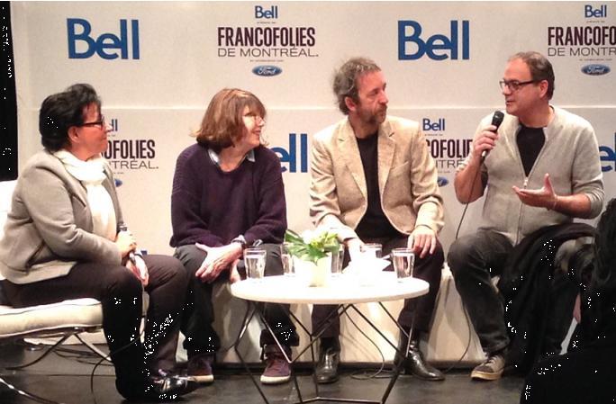 Conférence de presse avec Jane Birkin et Arthur H