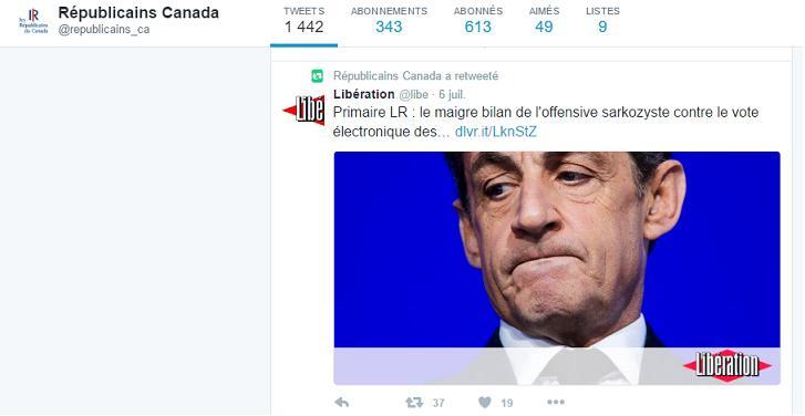 Les Républicains d'Amérique du nord suivent Frédéric Lefebvre