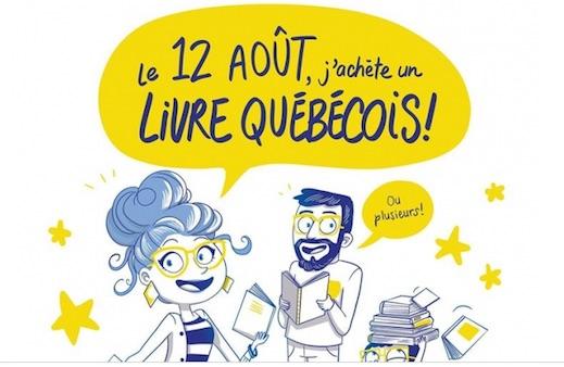 Le 12 août, achetez un livre québécois!