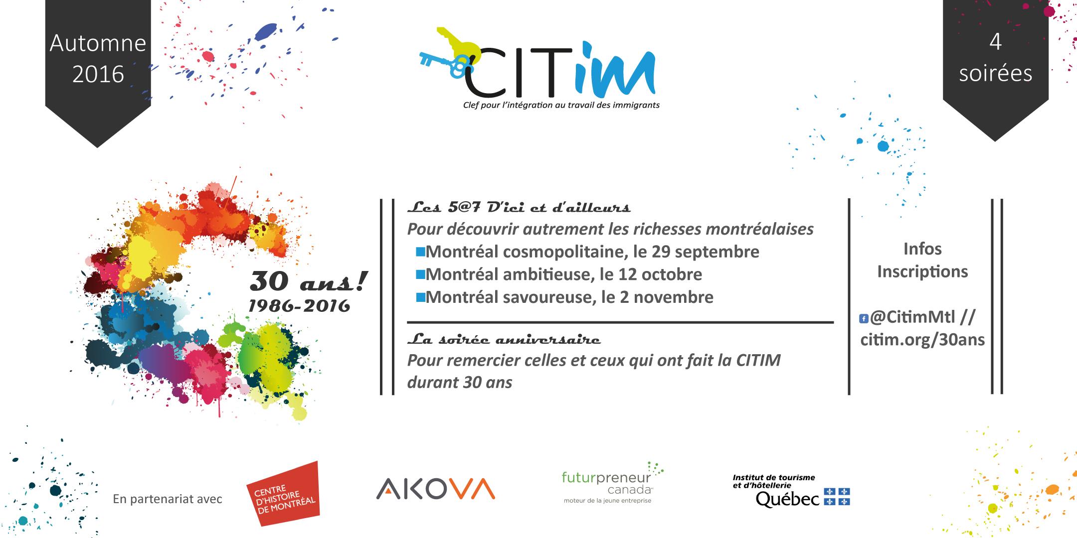 Le 30e anniversaire de la CITIM