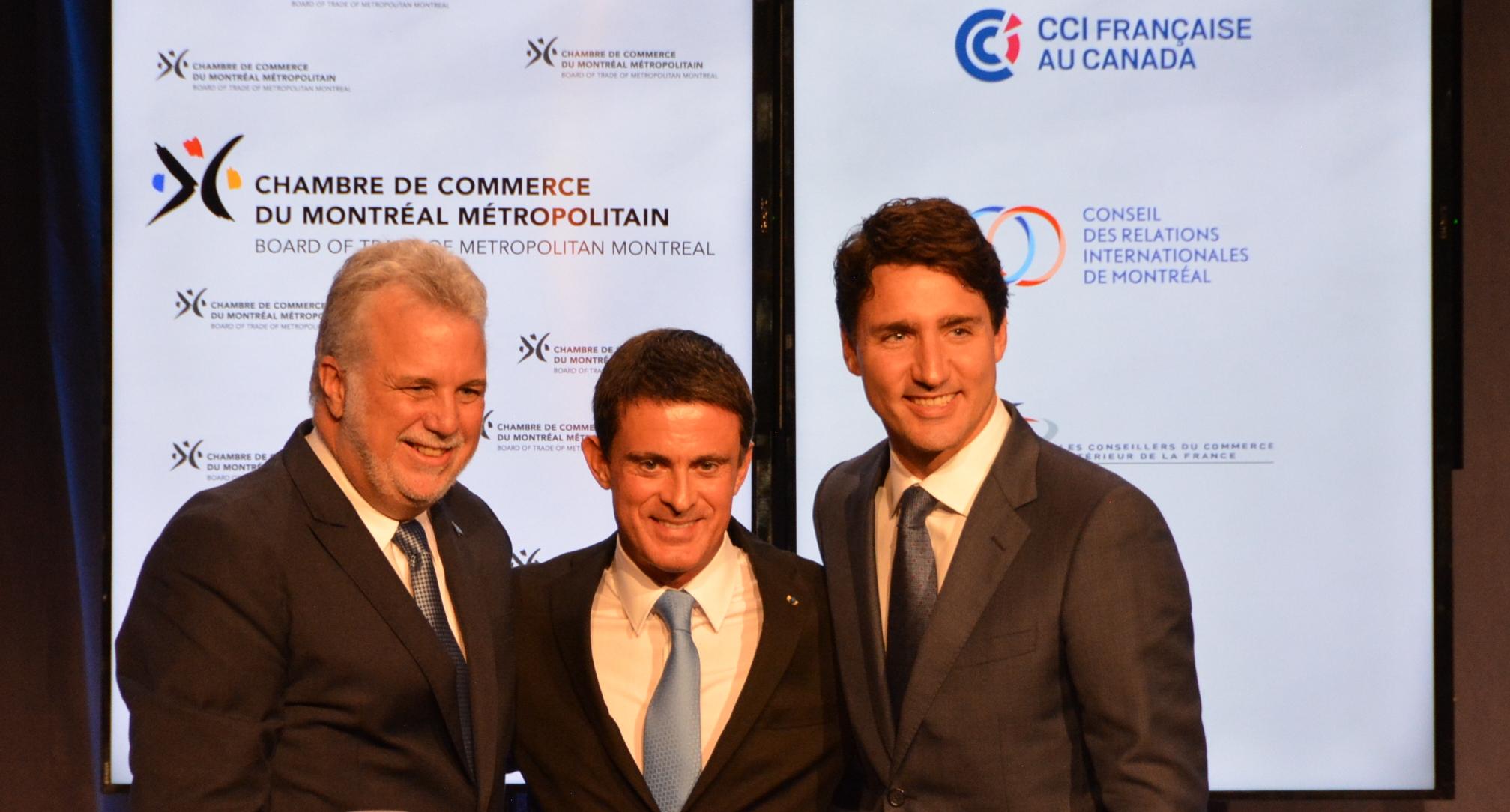 """Manuel Valls au Québec : """"Un lien magique entre la France et le Québec"""""""