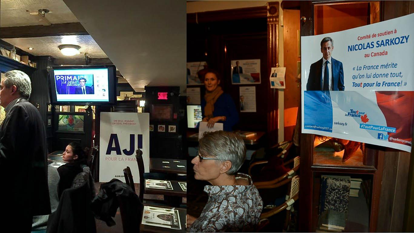 À Montréal, le Beaujolais nouveau avait un goût de primaire de la droite et du centre ce jeudi...