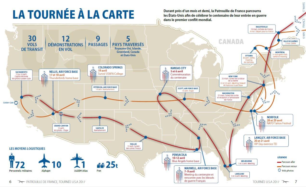 La Patrouille de France en Amérique du nord