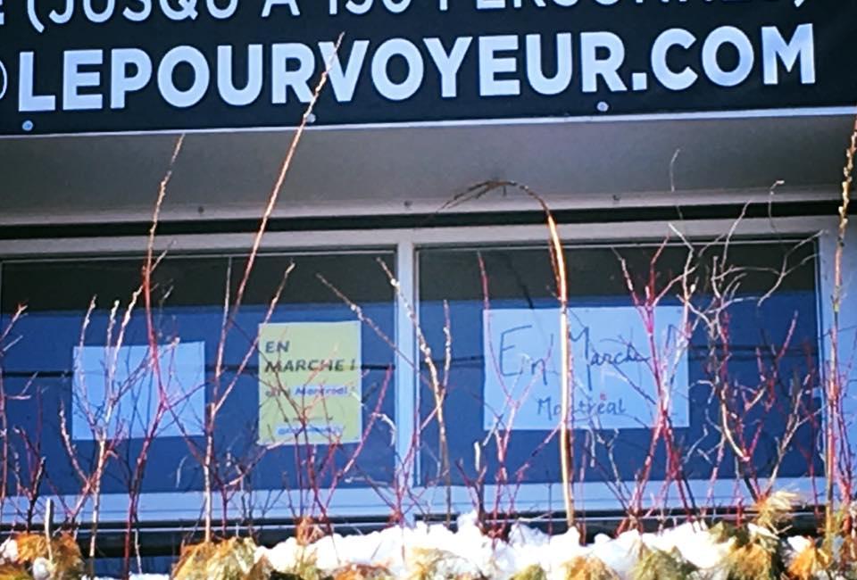 En pleine tempête de neige, En Marche Montréal déroule sa stratégie de campagne: Convaincre les indécis