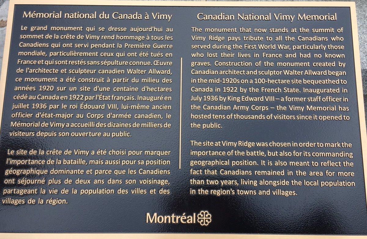 Inauguration de la place de Vimy à Montréal