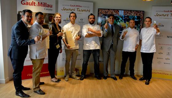 Gault & Millau Canada équipe de jeunes chefs avec la Dotation jeunes talents