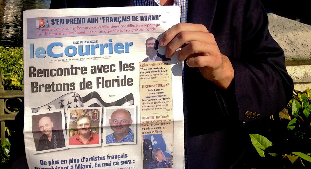 Le Courrier de Floride, le journal local des Québécois et des Français de Miami