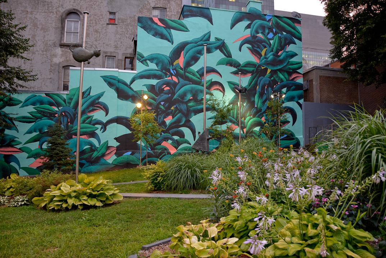 Une murale pour le 375e anniversaire de Montréal à l'Union Française de Montréal
