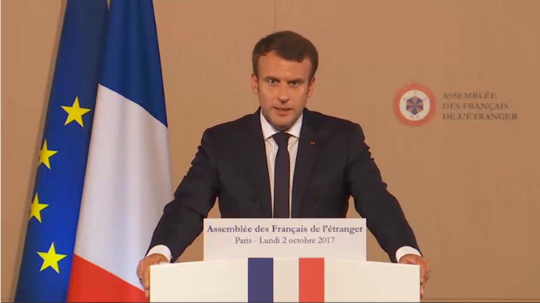 AFE: le président Emmanuel Macron rassure sur l'enseignement et le vote électronique mais oublie la fiscalité