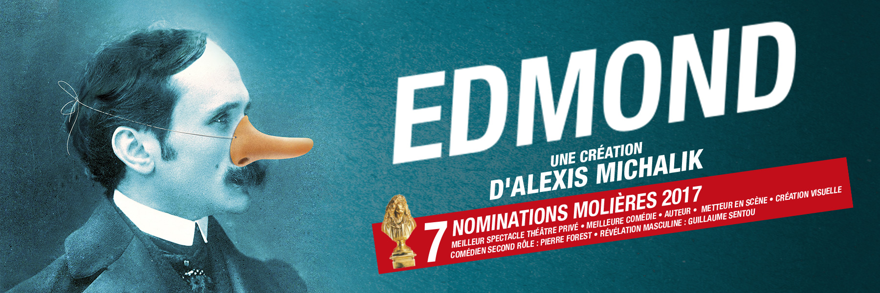 Edmond, la comédie au cinq Molières, à Montréal cet été