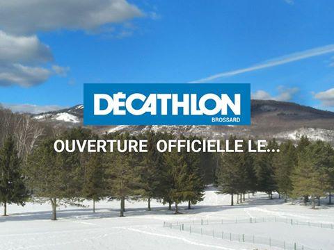 Décathlon Brossard ouvre le 21 avril prochain!