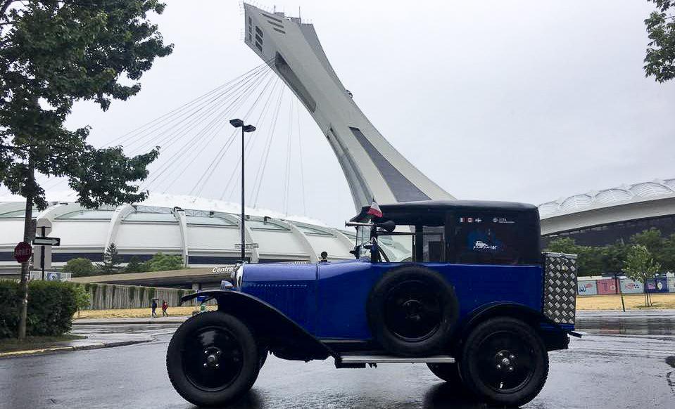 Un tour du Canada en Citroën Trèfle pour sensibiliser aux AVC